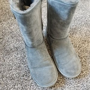 Grey Lamo Boots with zippers